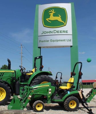 tractors in front of Premier Equipment